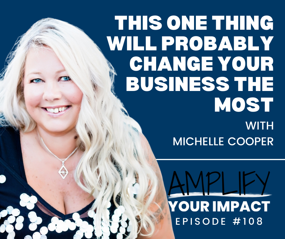 Michelle Cooper guest on Amplify Your Impact podcast