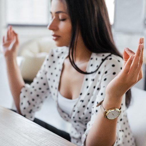 woman meditating to improve entrepreneurial mindset